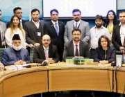لندن: صدر آزاد جموں و کشمیر سردار مسعود خان کے ہمراہ برطانیہ کی پارلیمنٹ ..