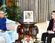 اسلام آباد: صدر مملکت ڈاکٹر عارف علوی سے آذربائیجان کے سفیر اوگلو علیزادہ ..