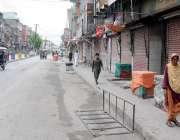 راولپنڈی: ظالمانہ ٹیکس اور مہنگائی کیخلاف تاجروں کی شٹرڈاؤن ہڑتال ..