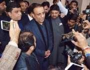 لاہور: تحریک انصاف کے رہنما عبدالعلیم خان پنجاب اسمبلی کے اجلاس میں ..