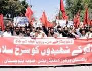 کوئٹہ: پاکستان ورکرز کنیڈریشن کے زیر اہتمام یوم مئی کے موقع پر حسن بلوچ، ..
