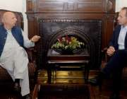لاہور: گورنر پنجاب چوہدری محمد سرور سے برطانوی ہائی کمشنرتھامس ڈریو ملا ..
