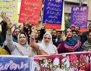 لاہور: اسٹیٹ لائف کارپوریشن کے ملازمین سیلز آفیسر کا کیڈر ختم کرنے ..