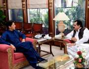 اسلام آباد: وزیر اعظم عمران خان سے وفاقی وزیر برائے ہاؤسنگ اینڈ ورکس ..