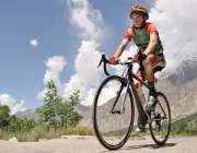 ہنزہ: دوسری ٹورڈی خنجرات انٹر نیشنل سائیکل ریس کے دوسرے مرحلے میں شریک ..