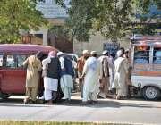 اسلام آباد: وفاقی دارالحکومت میں شاہراہ کشمیر پر ایچ -9 کے دھرنے کے علاقے ..
