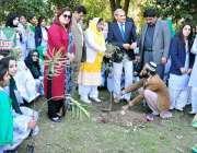 راولپنڈی: آرٹس کونسل میں کلین اور گرین پاکستان کے سلسلے میں شجرکاری ..