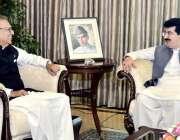 اسلام آباد: صدر مملکت ڈاکٹر عارف علوی سے چیئرمین محمد صادق سنجرانی ..