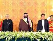 اسلام آباد: صدر مملکت ڈاکٹر عارف علوی، وزیر اعظم عمران خان اور سعودی ..