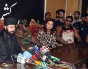 اسلام آباد: چیئرمین رنگ عاصم شاہ پریس کلب میں پریس کانفرنس سے خطاب کر ..