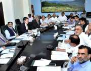 اسلام آباد: وفاقی وزیر صحت صاحبزادہ محمد محبوب سلطان ایک اجلاس کی صدارت ..