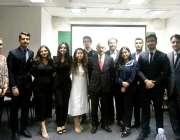 لندن:صدرآزادکشمیر سردار مسعودخان کا لندن کے شہرت یافتہ کالج کے طلبہ ..