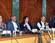 اسلام آباد: وزیر اعظم کے معاون خصوصی عبدالحفیظ شیخ، وفاقی وزیر منصوبہ ..