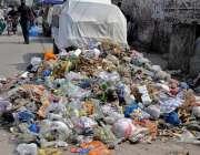 راولپنڈی: ڈھوک سیداں روڈ پر پڑا کچرا انتظامیہ کو منہ چڑارہا ہے جبکہ ..