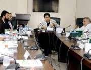 لاہور: صوبائی وزیر ہائر ایجوکیشن راجہ یاسر ہمایوں سرفراز خواجہ فرید ..