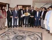 راولپنڈی : نیشنل انڈسٹریل زون ڈویلپمنٹ ایسوی ایشن کے صدر ارشد اعوان ..