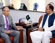 اسلام آباد: وفاقی وزیر برائے بجلی ، عمر ایوب خان ، پاکستان میں جاپان ..