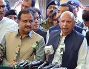فیصل آباد: گورنر پنجاب چوہدری محمد سرور فیصل آباد کے دورہ کے موقع پر ..
