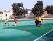 پشاور: بہاولپور اور صدر کی ٹیموں کے درمیان کھیلے جانیوالے ہاکی میچ ..