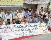 حیدر آباد: ایچ ڈی اے ایمپلائز یونین کی جانب سے تنخواہیں نہ ملنے کے خلاف ..