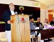 اسلام آباد: سپیکر قومی اسمبلی اسد قیصر مقامی ہوٹل میں منعقدہ تقریب ..