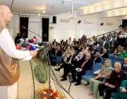 لاہور: گورنر پنجاب چوہدری محمد سرور فاطمہ میموریل ہسپتال میں انٹر نیشنل ..