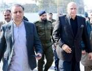لاہور: سینئر وزیر عبدالعلیم خان اور وزیر قانون راجہ بشارت پنجاب اسمبلی ..
