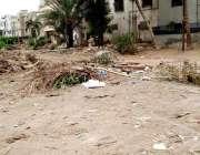 کراچی: گلشن اقبال گیلانی اسٹیشن کچرا نہ اٹھائے جانے کے سبب انتظامیہ ..