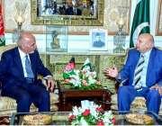 لاہور:افغان صدر اشرف غنی سے گورنر پنجاب چوہدری محمد سرور ملاقات کر ..