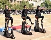 راولپنڈی: راولپنڈی ویمن یونیورسٹی میں سالانہ کھیل کے دن کے موقع پر ..