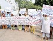 لاہور: شرقپور کے رہائشی اپنے مطالبات کے حق میں احتجاج کر رہے ہیں۔