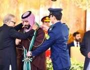 اسلام آباد: صدر مملکت ڈاکٹر عارف علوی، سعودی ولی عہد محمد بن سلمان کو ..