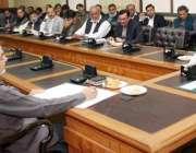 لاہور: صوبائی وزیر خوراک سمیع اللہ چوہدری گندم کی پروکیورمنٹ اور ریلیز ..