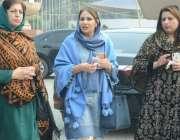 لاہور : تحریک انصاف کی اراکین اسمبلی مسرت جمشید چیمہ، شعہوانہ بشیر ..