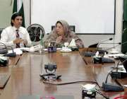 لاہور : صوبائی وزیرصحت ڈاکٹریاسمین راشد محکمہ پرائمری اینڈ سیکنڈری ..