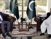 اسلام آباد: چیئر مین سینیٹ محمدصادق سنجرانی سے سوئزرلینڈ کے سفیر تھامس ..