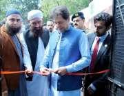 اسلام آباد : وزیراعظم عمران خان احساس سیلانی لنگر کا افتتاح کرنے کے ..