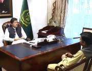 اسلام آباد: وزیر اعظم خان سے رکن قومی اسمبلی سید باسط سلطان بخاری ملاقات ..