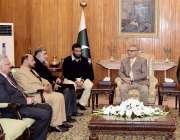 اسلام آباد: صدر مملکت ڈاکٹر عارف علوی سے ریکٹر اسلامک یونیورسٹی ڈاکٹر ..