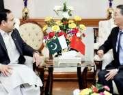 لاہور: وزیر اعلیٰ پنجاب سردار عثمان بزدار سے وزیر اعلیٰ آفس مں ی چین ..