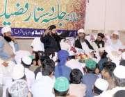 لاہور: جامعہ مسجد حمید الاسلام میں اشرف آباد رائیونڈ روڈ میں جلسہ دستار ..