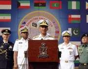 کراچی: کمانڈر پاکستان فلیٹ وائس ایڈمرل امجد خان نیازی مشترکہ مشقتوں ..