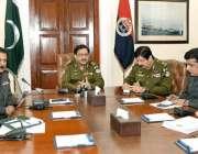 لاہور: انسپکٹر جنرل پولیس پنجاب کیپٹن (ر) عارف نواز خان سنٹرل پولیس ..