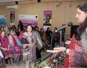 لاہور: خواتین کے عالمی دن کی مناسبت سے پریس کلب میں منعقدہ تقریب سے ..