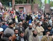 راولپنڈی: ضلع بھر سے آئے ٹیچر پریس کلب کے باہر مطالبات کے حق میں احتجاج ..