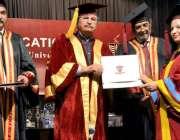 لاہور: وفاقی وزیر ایجوکیشن و پروفیشنل ٹریننگ شفقت محمود گورنمنٹ کالج ..