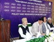 اسلام آباد: وزیر اعظم آزاد کشمیر راجہ فاروق حیدر خان پالیسی اینڈ ریسرچ ..