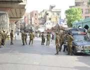 لاہور: تحفظ ناموس رسالت محاذ کے احتجاجی مظاہرے کے موقع پر کسی بھی نا ..