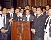 لاہور: وکلاء ایکشن کمیٹی کے زیر اہتمام کنونشن سے چیئرمین آئی پی ایل ..