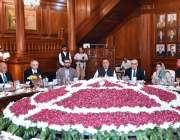 لاہور: افغان صدر اشرف غنی وفد کے ہمراہ گورنر پنجاب چوہدری محمد سرور ..